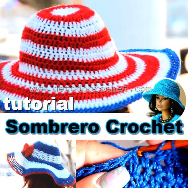sombrero con ala ancha tejido a crochet | crochet | Pinterest | Alas ...