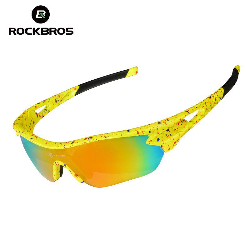 b06842dbd50 ROCKBROS Polarized Cycling Eyewear Sports Sun Glasses UV 400 Men   Women  Bicycle Bike Sunglasses Myopia