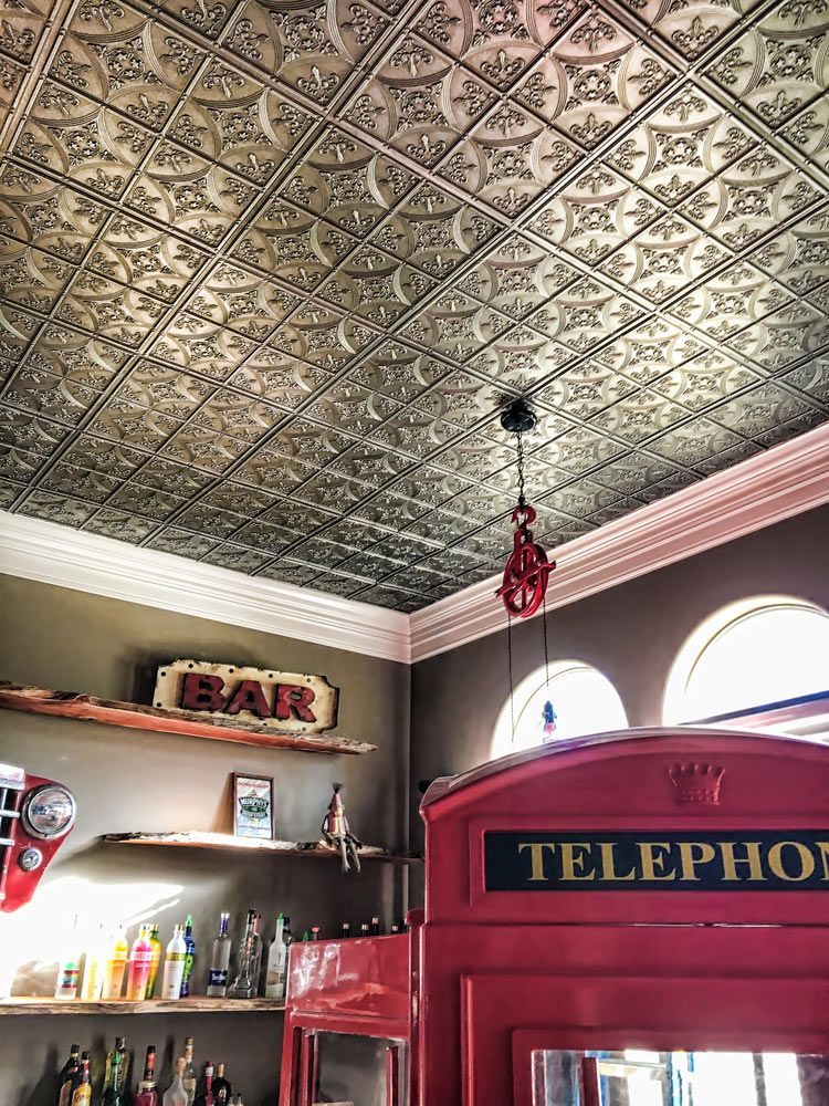 Our Cathedral Ceiling Tile Is A Favorite Faux Tin Choice It Comes In White Antique Nickel And Bronze You Will Love The Ease Of Working With