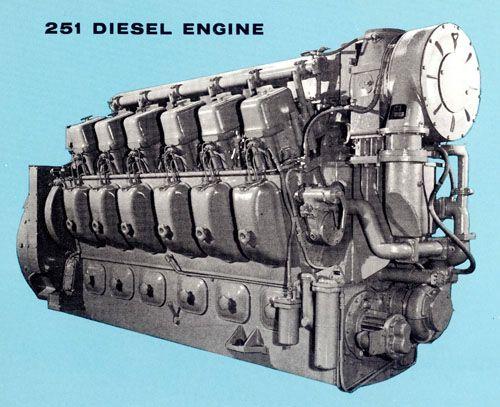 Alco 251 V12 diesel engine for Railroad service.