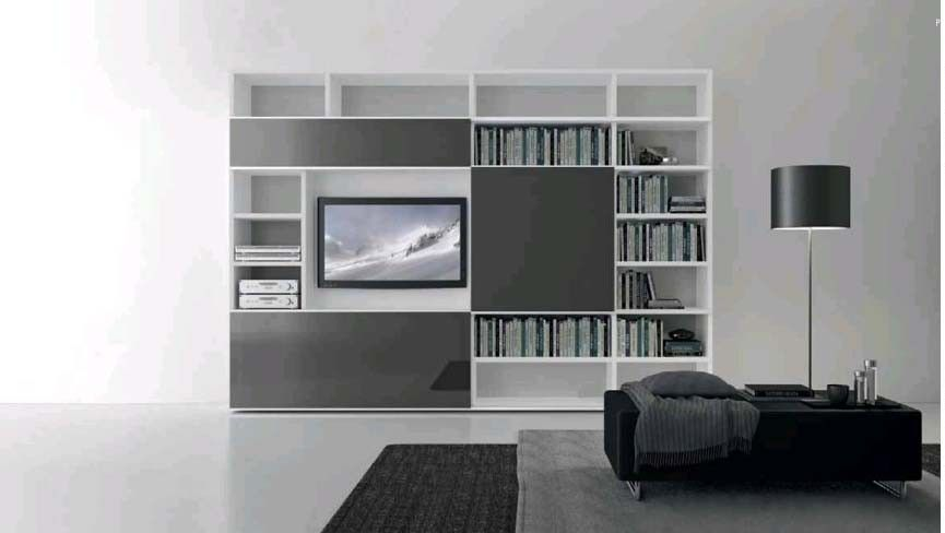 Comp. 320 Wall Unit by Presotto, Italy has lacquered structure and ...