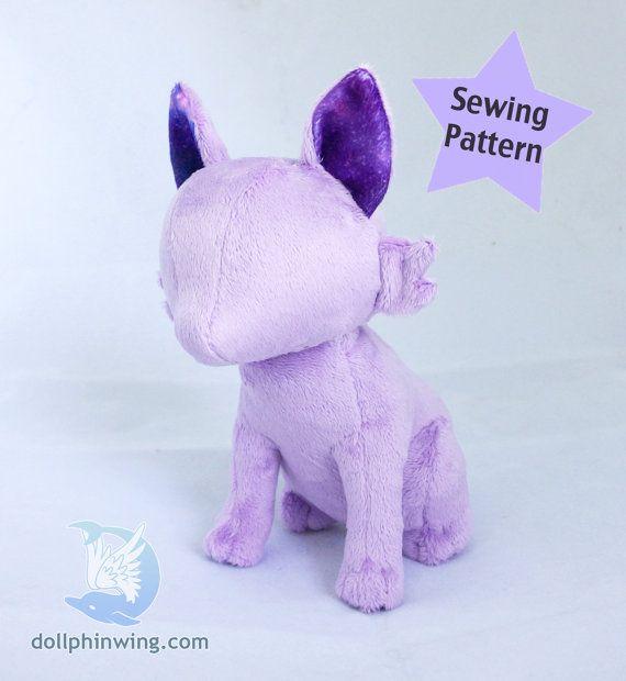 PDF Pattern Sitting Feline Cat Plush Digital Download | Stofftiere ...