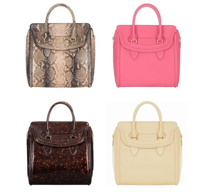 d0f5fae1e0dc Alexander McQueen Heroine Bag Collection for Spring Summer 2013 ...