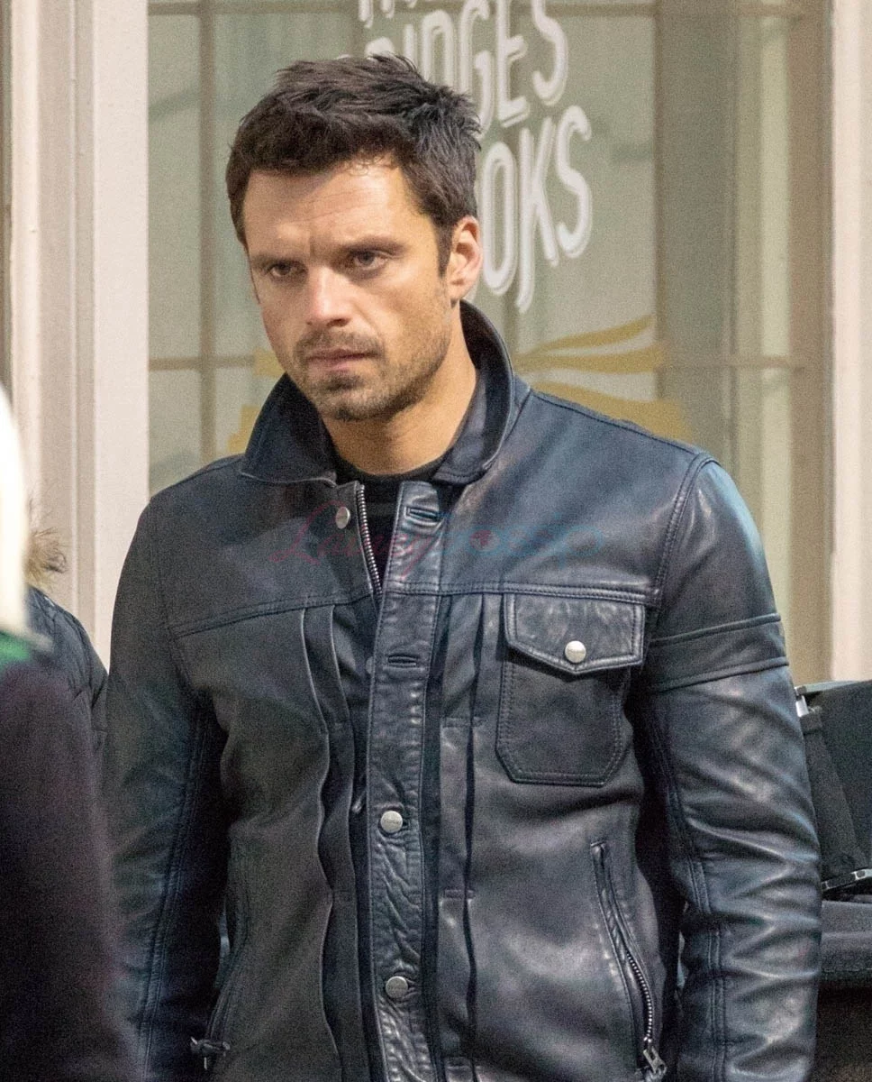 Sebastian Stan Rocks Bucky Barnes S New Short Hair On Set Of The Falcon And The Winter Soldier In Atlanta In 2020 Sebastian Stan Winter Soldier Bucky Bucky Barnes