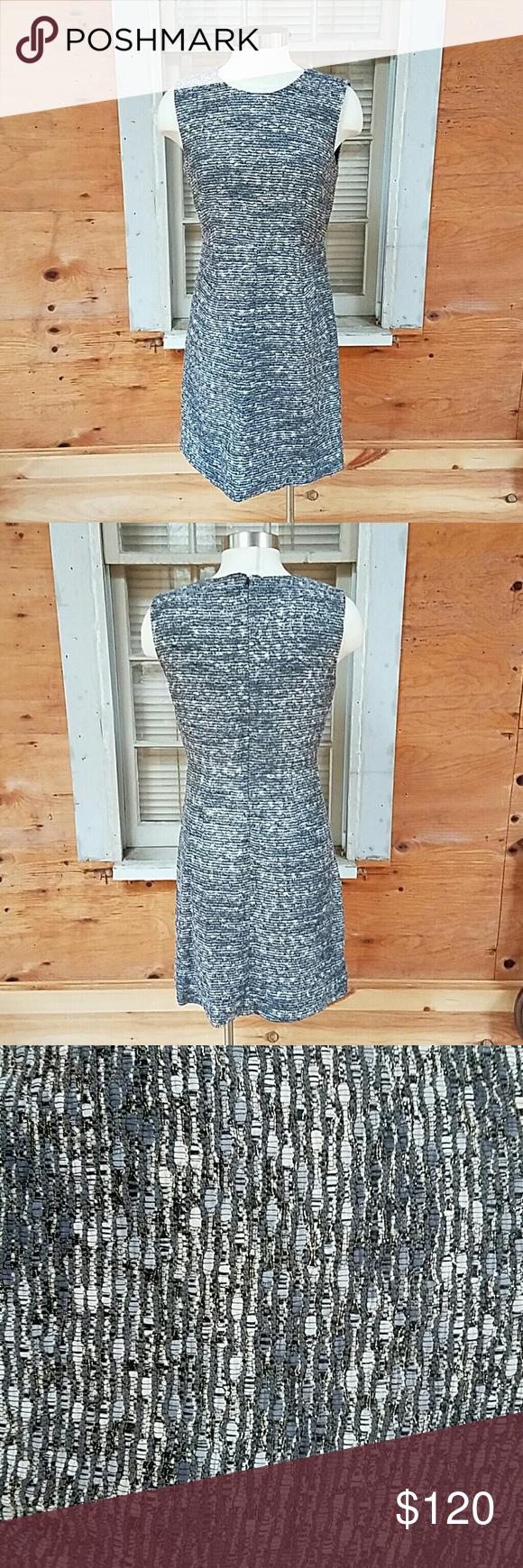DVF dress Beautiful grey/silver dress in excellent condition with side pockets. Diane von Furstenberg Dresses Midi
