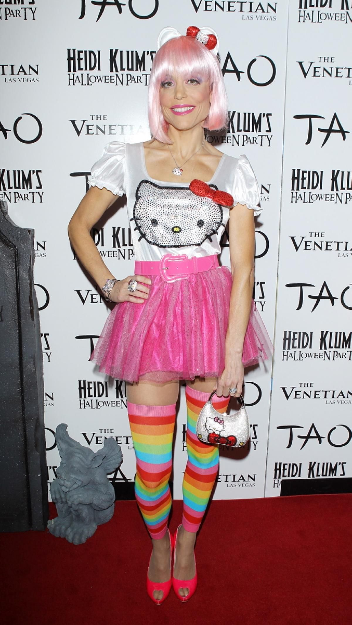 Bethenny Frankel loves Hello Kitty so much she dressed up as her for Halloween! The reality TV star rocked a colorful costume complete with a pink wig and cat ears to Heidi Klum's 12th Annual Halloween Party on Oct. 29, 2011.