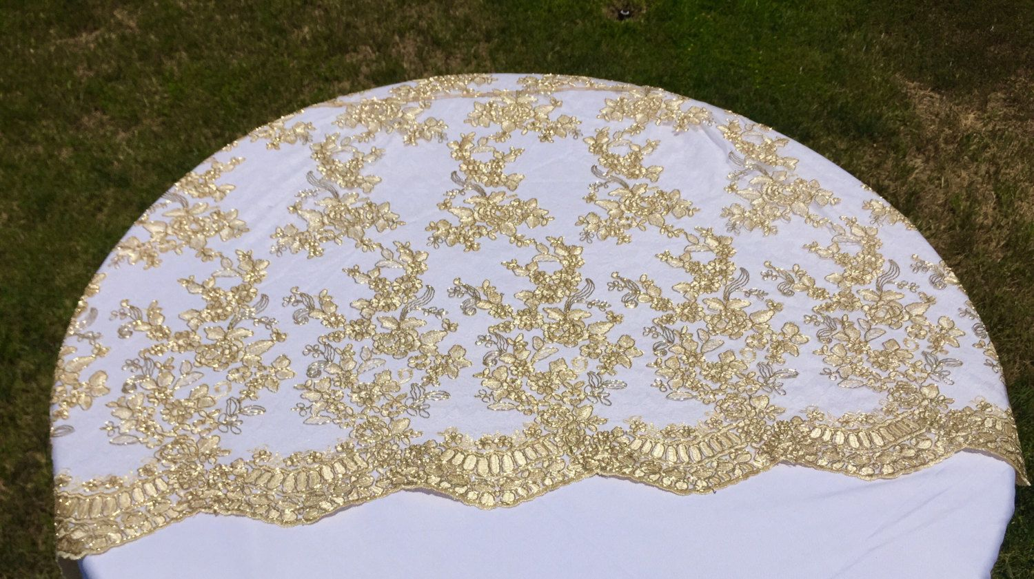 Vintage Wedding Table Cloth Gold Tablecloth Overlay Lace Tablecloth Table Runner Embroidered La Gold Tablecloth Vintage Wedding Table Table Runners Wedding