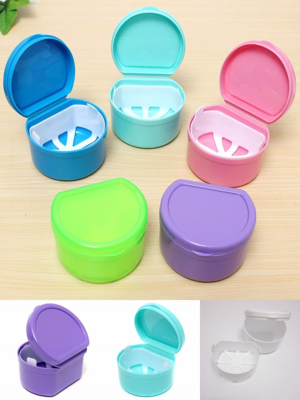 Mouth Protector Container Teeth Guard Holder Denture Retainer Storage Case