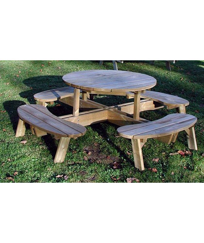Buy Grange Fencing Round Garden Table with Seats at Argos.co.uk ...