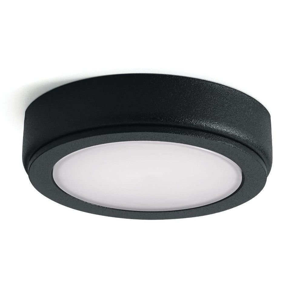Kichler 4d12v27 4d 12 Volt Led Under Cabinet Puck Light 2700k Textured Black Puck Lights Light Texture Bronze
