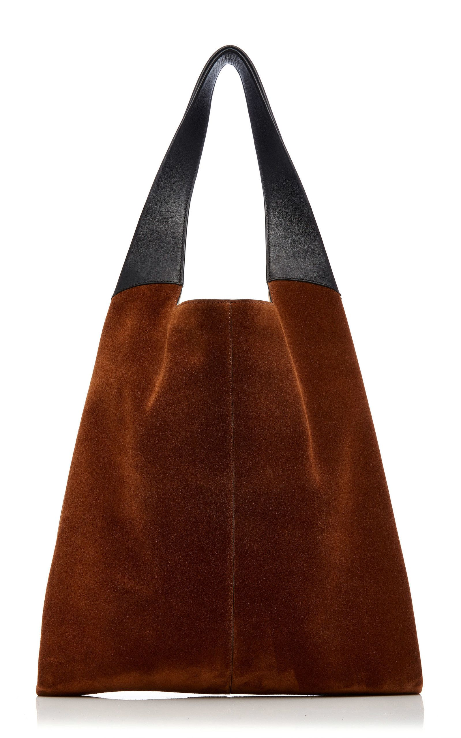 0e11f1603fe9 Hayward Leather-Trimmed Suede Tote