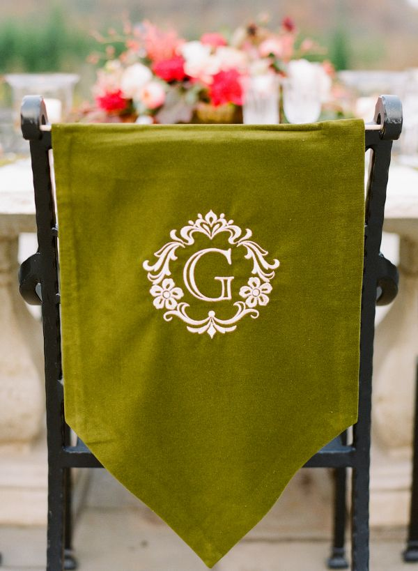 Good Monogrammed Chair Cover | Photography By Http://www.jenfariello.com/  Www.MadamPaloozaEmporium.com Www.facebook.com/MadamPalooza