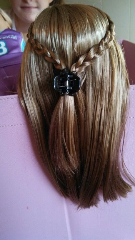Easy And Cute Hairstyles Cute And Simple Hairstyle Two Braids Then Clip Them Together