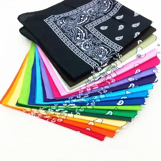 Paisley Cotton Bandanas Neckerchief Neck Warmer Scarf Hair Band Headwear 3 Pack