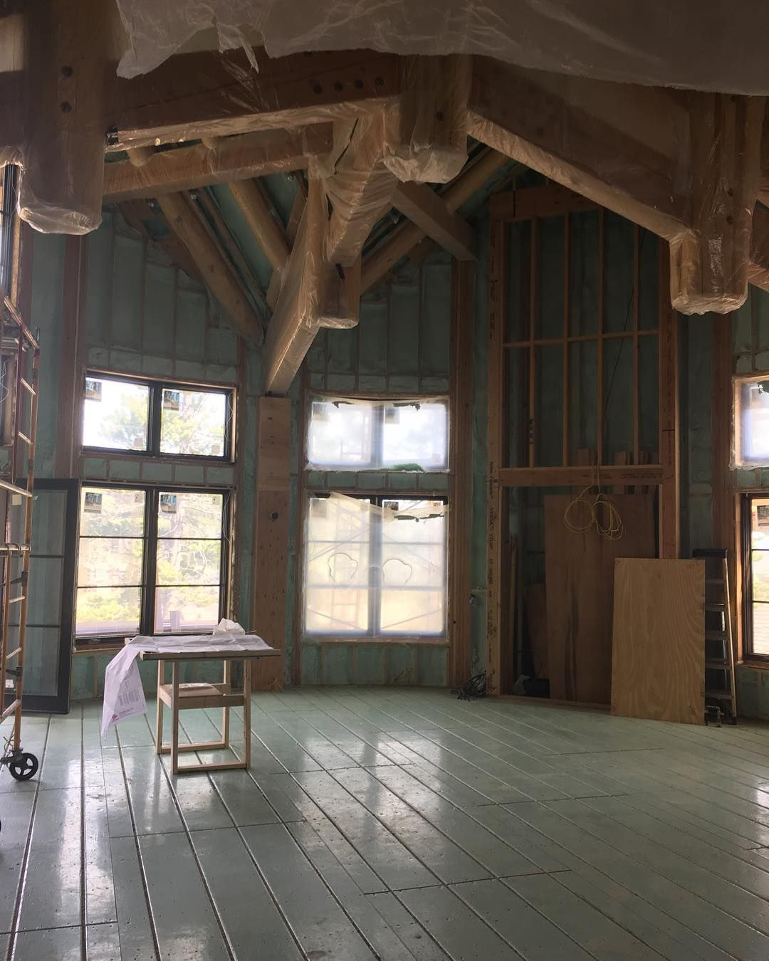 Over 6800 sq ft of Warmboard is being installed in this
