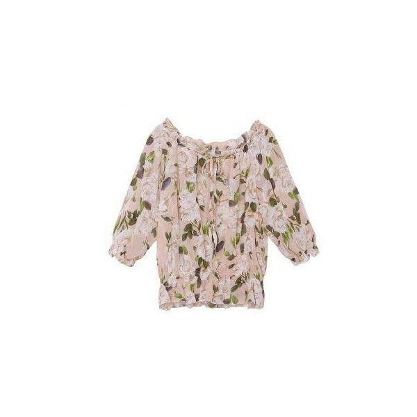 Off-Shoulder Elastic Bandge Floral Chiffion Tops Blouse ($8.99) ❤ liked on Polyvore featuring tops, blouses, floral blouse, floral print blouse, off shoulder tops, flower print blouse and floral print top