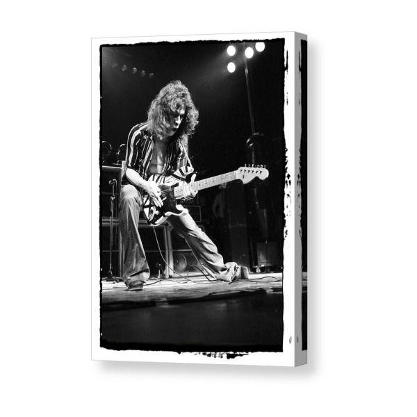 Canvas Eddie Van Halen Plays Guitar in Concert Art Print Poster