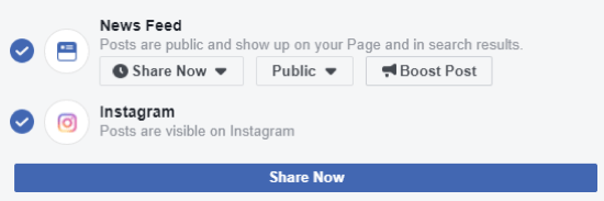 How To Cross Post To Instagram From Your Facebook Page Instagram Business Account Instagram Algorithm Instagram Business