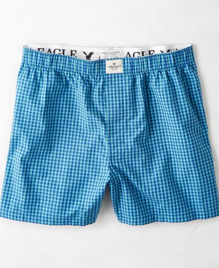 1f7e3fd5589b53 American Eagle Plaid Boxer, Men's, Blue | *Clothing* | Men's undies ...