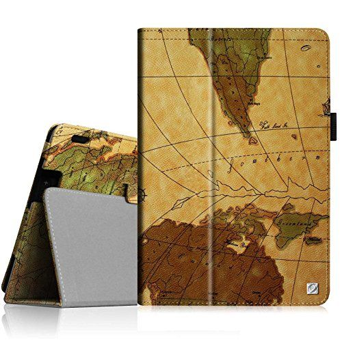 Fire Tablet Accessories  Fintie Folio Case for Kindle Fire HDX 89  Slim Fit Leather Cover will fit Amazon Kindle Fire HDX 89 Tablet 2014 4th Generation and 2013 3rd Generation  Map Brown * This is an Amazon Associate's Pin. Details on product can be viewed on Amazon website by clicking the VISIT button.