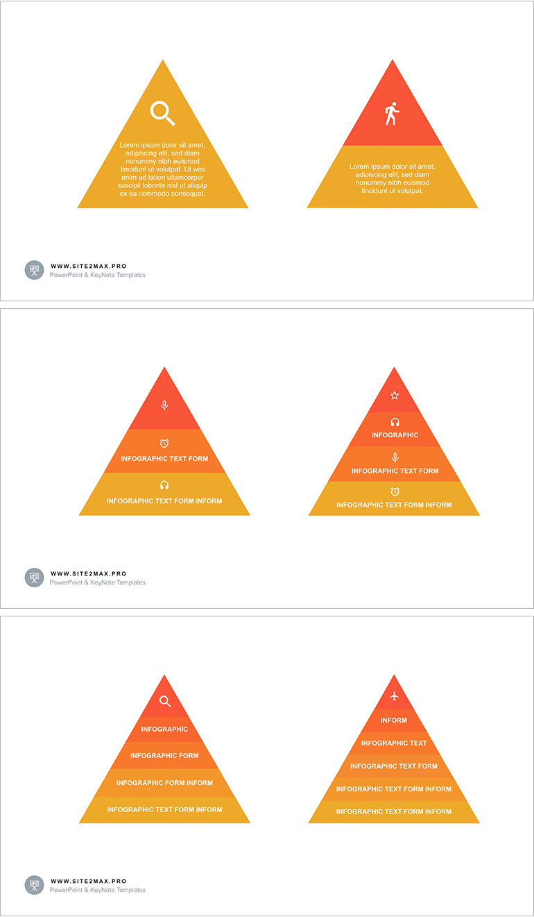 pyramid with 4 segments ppt powerpoint elements for presentation