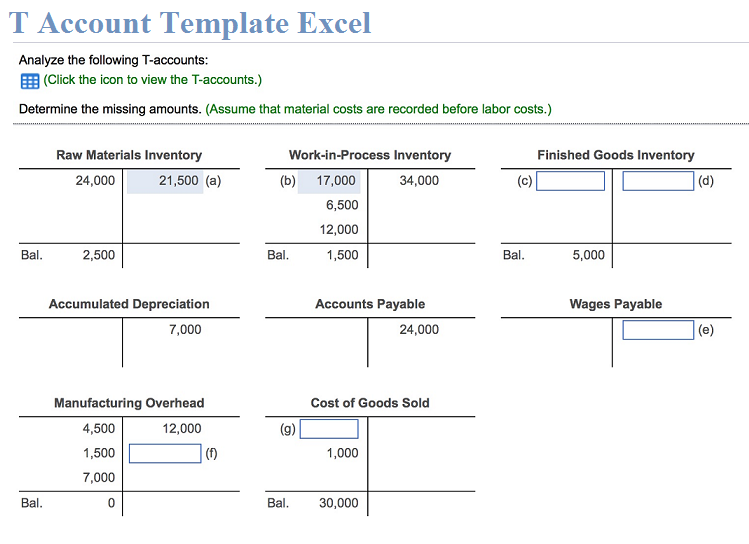 T Account Template Excel Free Download Xlstemplates Accounting Templates Excel Templates