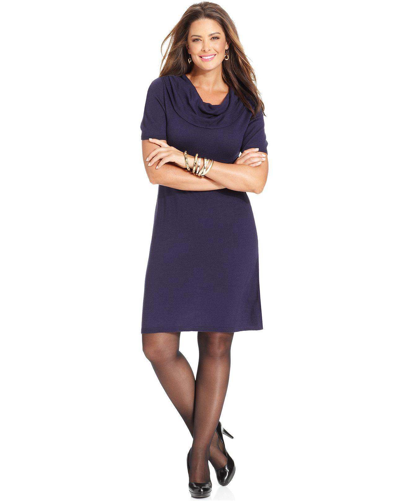 16ac3857cb1 Love Squared Plus Size Short-Sleeve Sweater Dress - Plus Size Dresses - Plus  Sizes - Macy s
