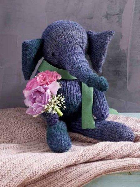 Kuscheltiere Stricken Elefant Mit Strickanleitung Stricken