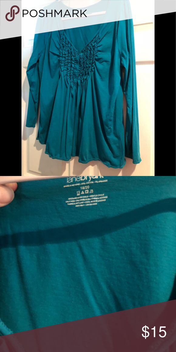 065049cbd1b Lane Bryant women s Teal button down blouse 18 20 Lane Bryant women s long  sleeve teal blouse. Button down soft material size 18 20 Lane Bryant Tops  Blouses