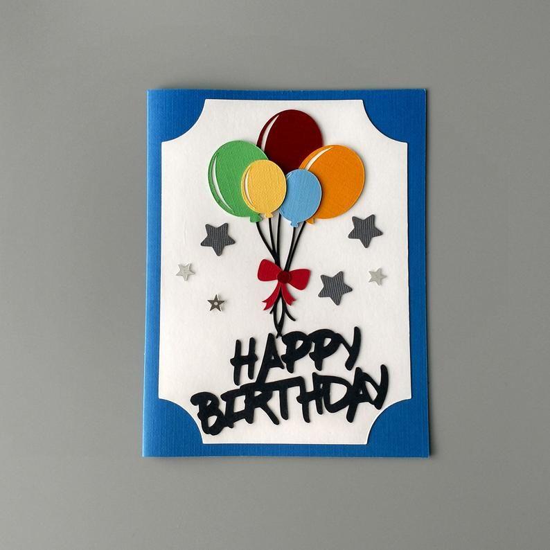 Birthday Card With Balloons Friend Birthday Card Happy Birthday Greeting Cards Cute Birthday Card Handmade Cards Kids Birthday Card In 2021 Happy Birthday Cards Handmade Kids Birthday Cards Birthday Card Craft