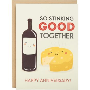 A quirky, lovable anniversary card to give to your perfect match. Designed by Paper Source and printed in the USA. Blank inside.<br><br>Single folded A6 card (4.5 x 6.25) with Paper Bag envelope.