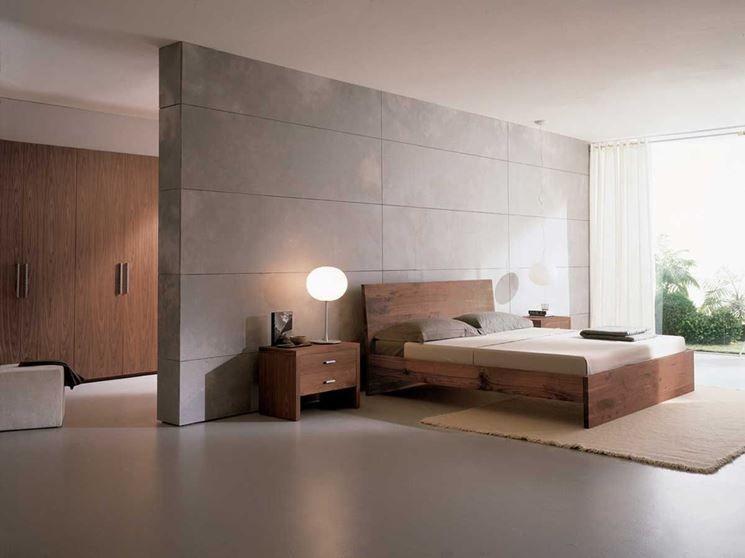 Tanti modi di realizzare la cabina armadio dietro al letto | Camera da letto minimalista ...