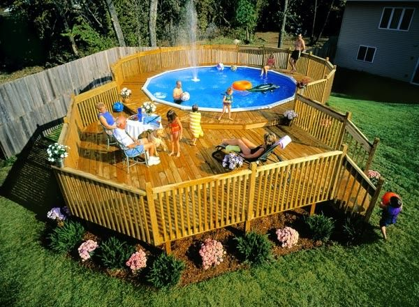 Step up deck to above ground pool step of the deck for Above ground pool step ideas