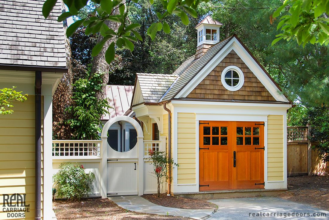 Colonial style outswing carriage doors by Real Carriage Door ...