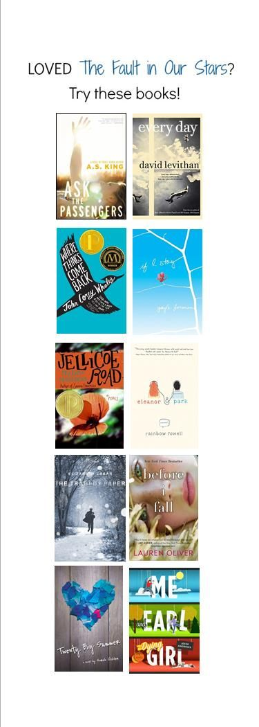 Loved The Fault in Our Stars? Try these 10 books that will make you laugh, cry (and cry...), and think: all in one.