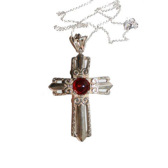 Huge vintage sterling silver cross necklace beautiful large cross huge vintage sterling silver cross necklace beautiful large cross jewelry catholic christian necklace aloadofball Images