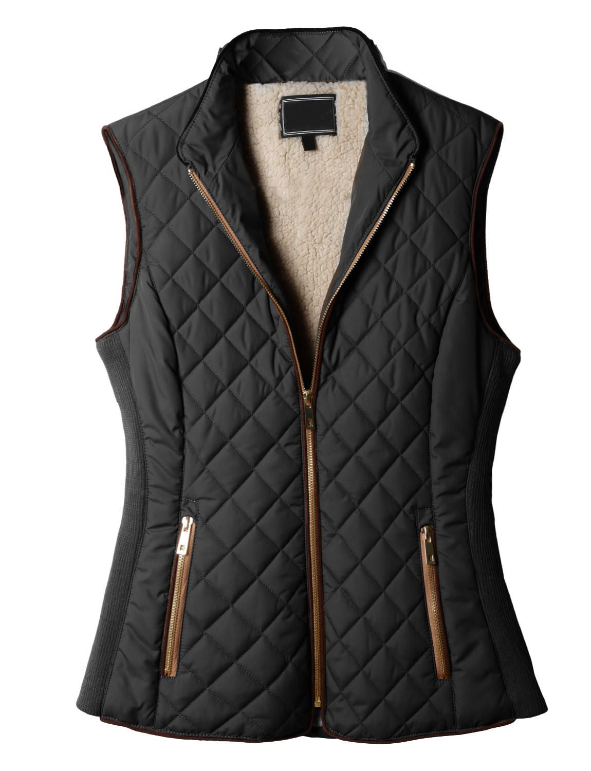 Le3no Womens Lightweight Quilted Puffer Jacket Vest With Pockets From Le3no Saved To New Wardrobe Casualstyle Stylis Quilted Puffer Jacket Clothes Fashion [ 1500 x 1150 Pixel ]