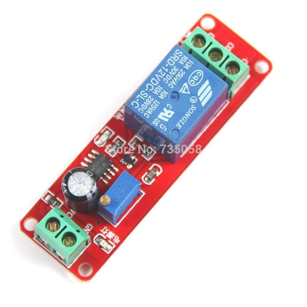 1ピース赤dc12vプル遅延タイマースイッチ調整可能なリレーモジュール0〜第二t1098 p