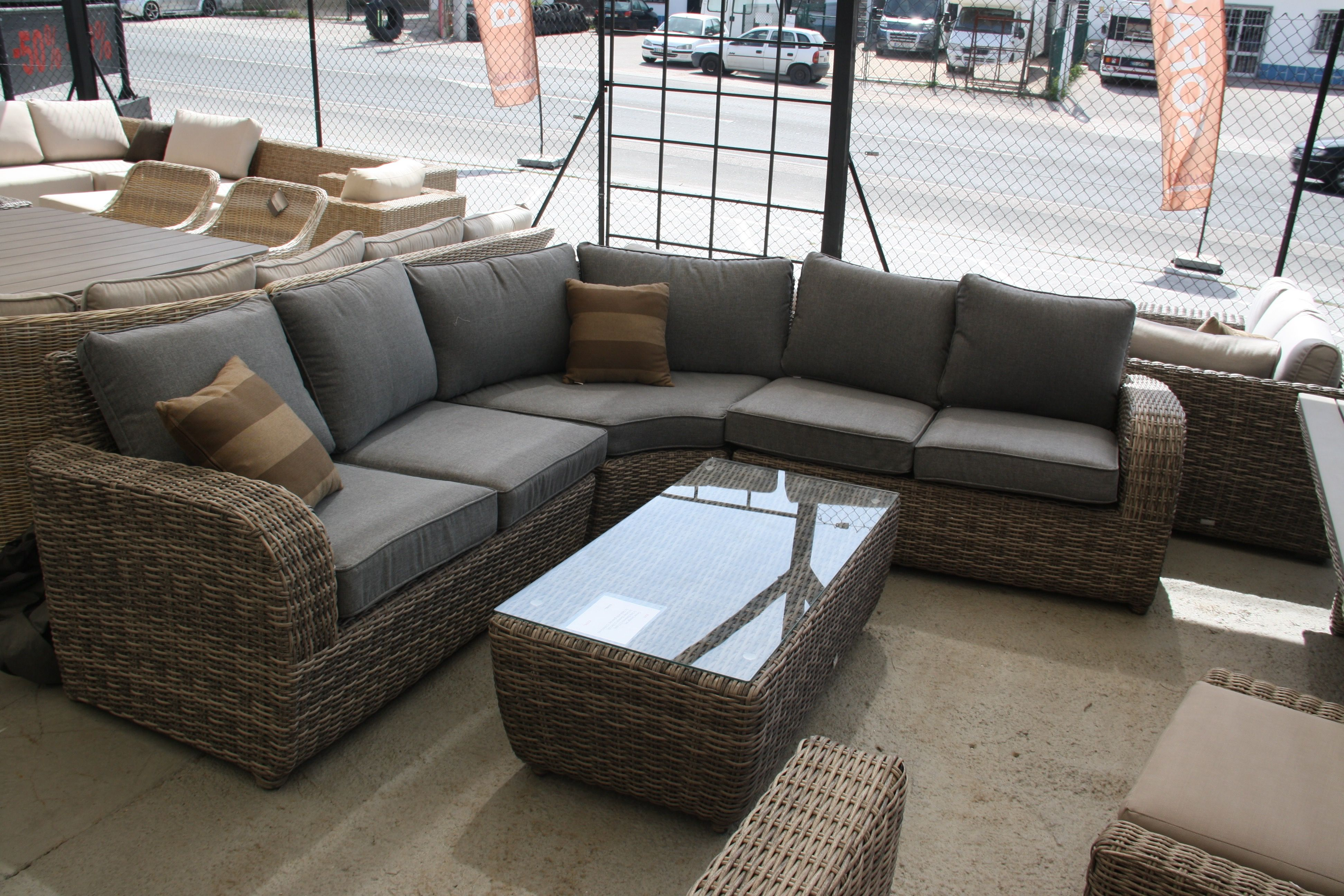 Lounge sofa rattan  lounge #sofa #table #coffeetable #portugal #spain #rattan #wicker ...