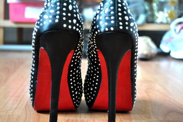 f0693160ac8 The Singing Sunflower  DIY Christian Louboutin Inspired Red Sole Shoes