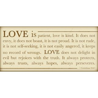 Love is Patient Paper Print (Unframed)