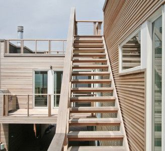 Exterior Wood Stairs Architecture