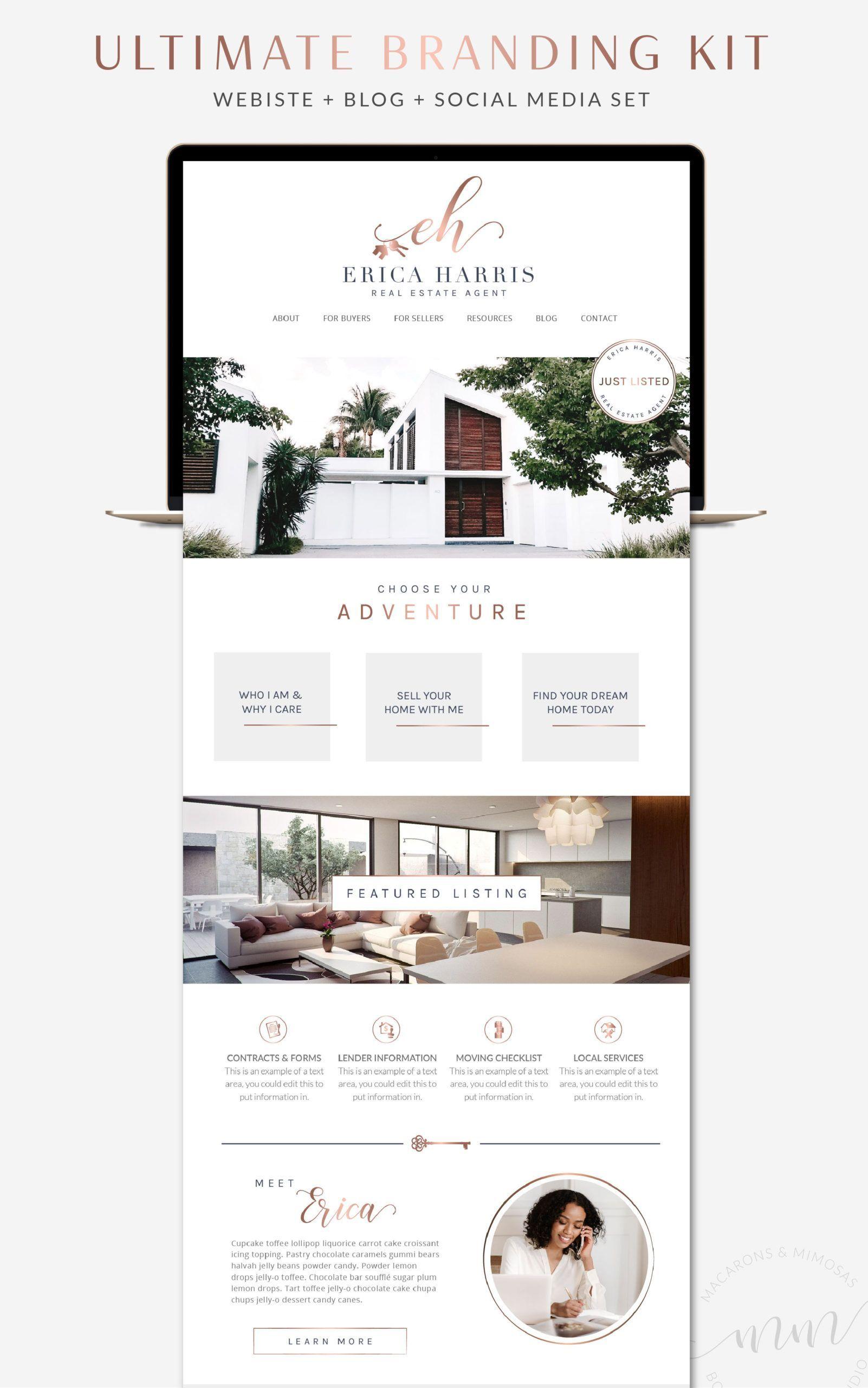 Real Estate Website Design WordPress Responsive Real Estate Website Design Real Estate Website Templates Website Design WordPress Real estate agent website template