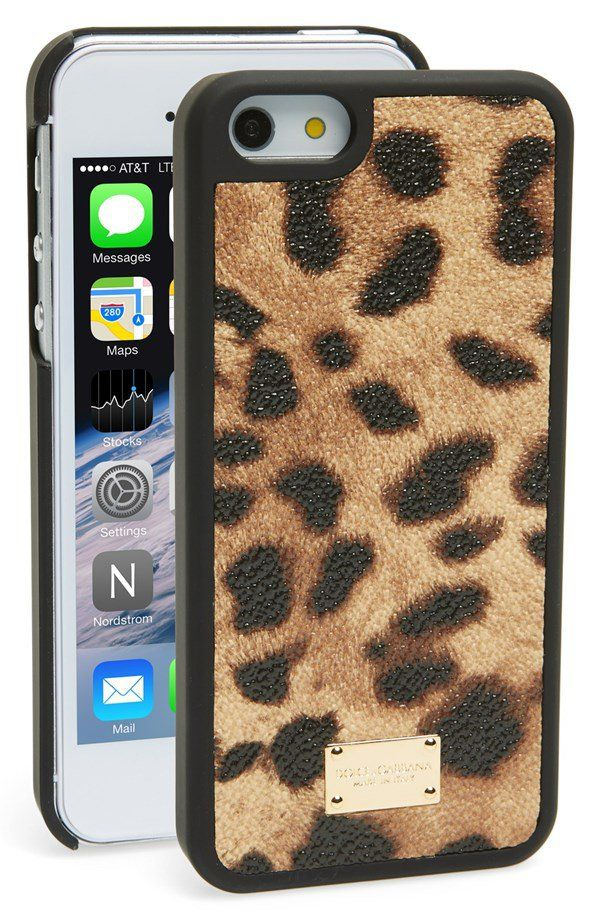 Pin for Later: Over 60 Designer Cases to Outfit Your iPhone Dolce & Gabbana Leopard-Print iPhone 5 Case This  Dolce & Gabbana case ($125) is a bold statement!