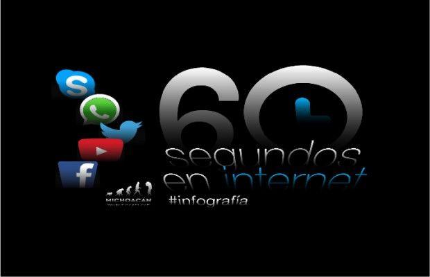 60 segundos en internet #Infografía http://michoacantrespuntocero.com/60-segundos-en-internet-infografia/