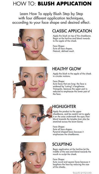 4bec724a301d5 Blush Hacks, Tips, Tricks, How to Apply Cheek Color Makeup, Pictures ...