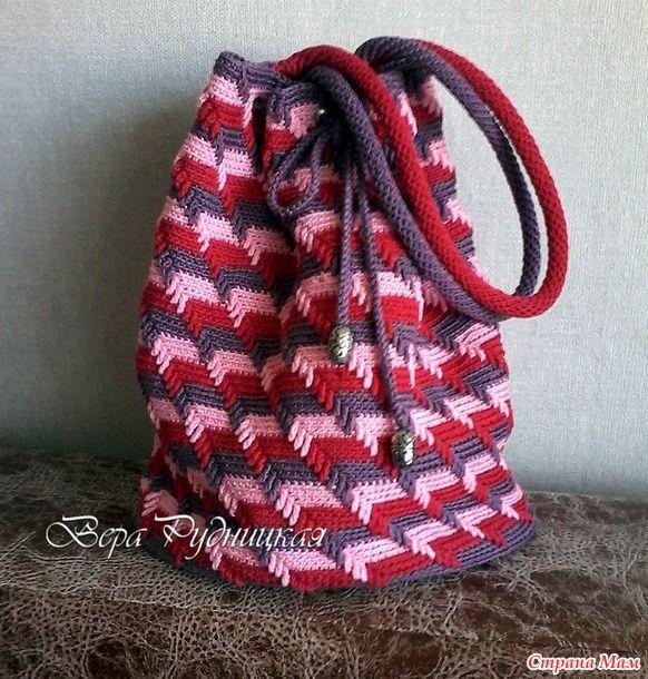 aaeccf40fa33 Необычайно красивый узор 3D. Вязание крючком   Сумки   Plaid scarf ...