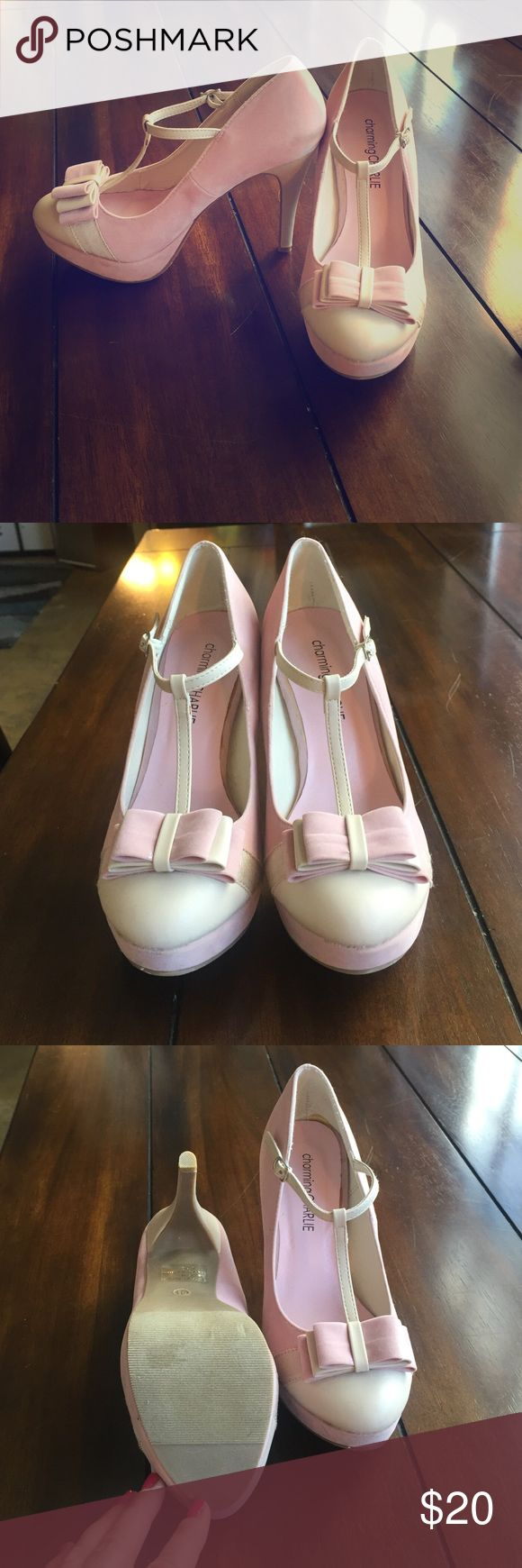 Selling this Charming Charlie platform heels. Never worn!!! on Poshmark! My username is: joannasnook. #shopmycloset #poshmark #fashion #shopping #style #forsale #Charming Charlie #Shoes