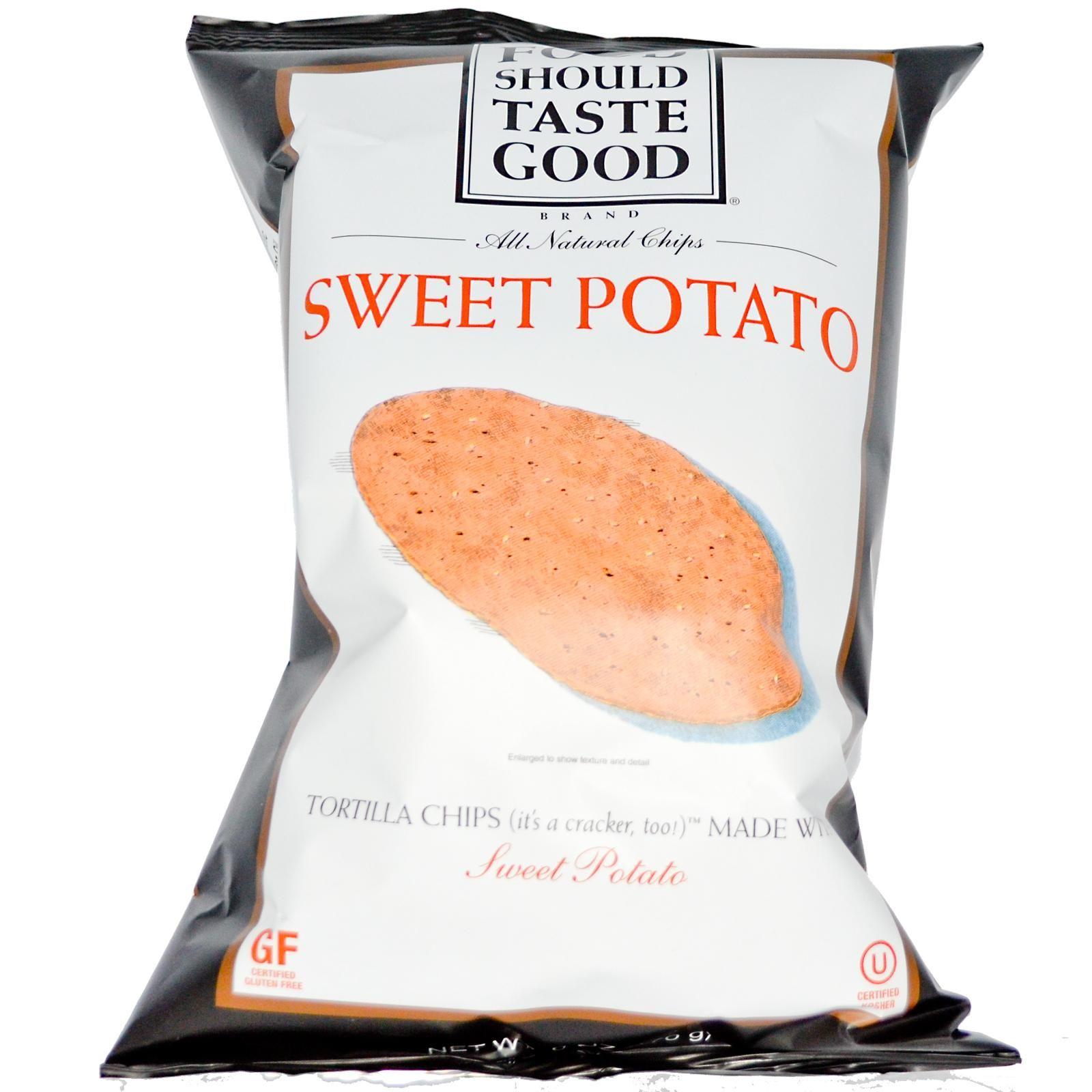Food should taste good sweet potato tortilla chips food