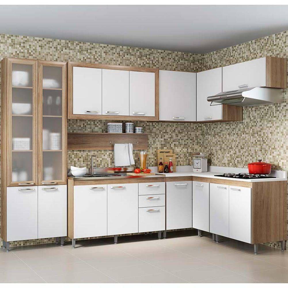 Kit Cozinha 8 Modulos 5714 T8 Toscana Multimoveis Argila